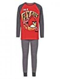 Angry Birds - Pijama largo para niños (tallas 3, 4, 5, 6, 7, 8, 9, 10, 11, 12, 13 y 14 años) Rojo rosso 9-10 Years