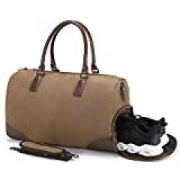 Fresion la Lona del Viaje del Vintage Bolsas de Deporte Bolsas de Viaje de Fin de Semana de Lona Gimnasio Acampar Hombre Bandolera Mujer Senderismo