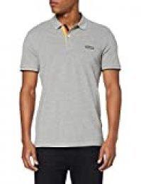 Jack & Jones Poloshirt Camisa de Polo, Ajuste: Melange Gris Claro reg, XL para Hombre