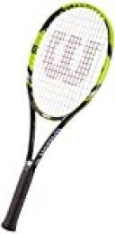 Wilson Raqueta de tenis unisex, Para juego en todas las áreas, Para jugadores intermedios y expertos, Steam 99LS, Medida 0, Negro/Amarillo, WRT73080U0