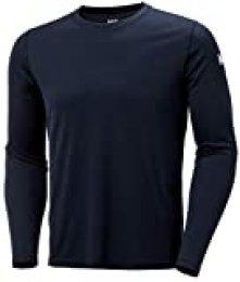 Helly Hansen HH Tech Crew Camiseta Deportiva Manga Larga, Hombre, Navy, XS