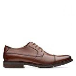 Clarks Becken Cap, Zapatos de Cordones Derby para Hombre, Marrón (Tan Leather-), 43 EU
