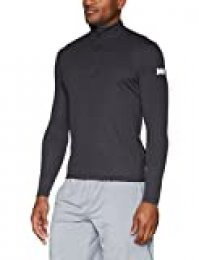 Helly Hansen HH Tech 1/2 Zip Camiseta de Manga Larga con Media Cremallera, Hombre, Ebony, L