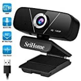 WACCET Cámara Web HD 1080p PC Webcam con Microfono, USB Cámara para PC/Mac/Laptop/MacBook, Streaming Cámara para Videollamadas, Estudio, Clase en línea, Conferencias, Grabación, Juegos