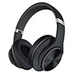DOQAUS Auriculares Diadema, [52 Hrs de Reproducir] Alta fidelidad Estéreo Cascos Inalámbrico Bluetooth con 3 Modo EQ, Micrófono Incorporado y Doble Controlador de 40 mm, para Móviles/Xiaomi/TV (Negro)