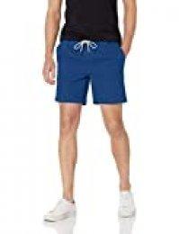 Marca Amazon - Goodthreads: pantalones cortos de lona elásticos para hombre con tiro de 18 cm.