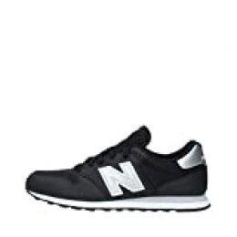 New Balance 500 Core, Zapatillas para Hombre, Negro Black Silver Black Silver, 43 EU