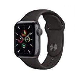 Nuevo AppleWatch SE (GPS, 40 mm) Caja de Aluminio en Gris Espacial - Correa Deportiva Negra