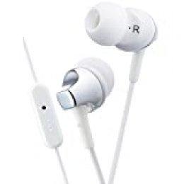 JVC HA-FR325-W-E Dentro de oído Binaural Alámbrico Plata, Blanco - Auriculares (Alámbrico, Dentro de oído, Binaural, Intraaural, 8-24000 Hz, Plata, Blanco)