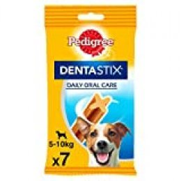 Pack de 7 Dentastix de uso diario para la limpieza dental de perros pequeños (Pack de 10)