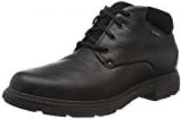 Clarks Un Tread UpGTX, Botas clásicas. para Hombre, Negro (Black Leather Black Leather), 45 EU