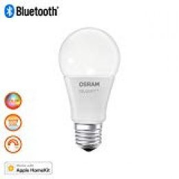 Osram Smart + Apple homekit Classic A RGBW, LED Bombilla En Forma De La Bombilla, control del color y regulable mediante Apple homekit, 10 W, mate, blanco cálido - 2700 Kelvin, 1er Pack