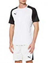 Puma Cup Sideline tee Core T-Shirt, Hombre, White Black, L