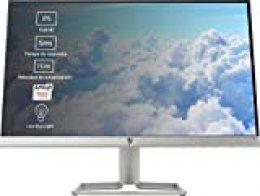 """HP 22f - Monitor de 22"""" (FHD, 1920 x 1080 pixeles, Tiempo de Respuesta de 5 ms, 1 x HDMI, 1 x VGA, 16:9), Negro y blanco"""