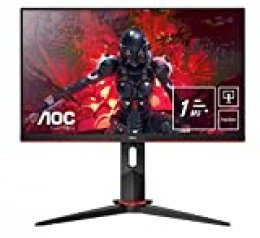 "AOC 24G2U5/BK Monitor  - Pantalla para PC de 24"" Full HD e-Sports (IPS, 1ms, AMD FreeSync, 75 Hz, Sin Marco, Ajustable en Altura y FlickerFree)"