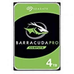 Seagate Barracuda Pro - Disco Duro Interno HDD (4 TB, 7200, SATA III) Color Plata y Verde (Reacondicionado)
