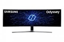 "Samsung C49HG90DMU – Monitor Curvo Gaming 49"" (QLED, 2 x Full HD, 32:9, 144 Hz, 1 ms, HDR, 3000:1, 1800R, FreeSync)"