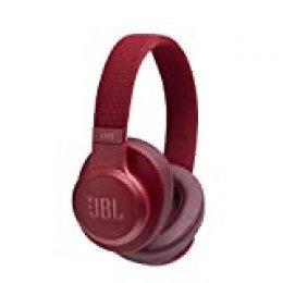 JBL LIVE 500BT - Auriculares Inalámbricos con Bluetooth, Asistente de voz integrado, Calidad de Sonido JBL y función TalkThru y AmbientAware, Hasta 30h de música, Color Rojo, con Alexa integrada
