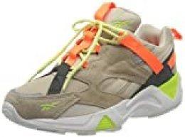 Reebok AZTREK 96 Adventure, Gymnastics Shoe Womens, Stucco/Sand Beige/Solar Orange, 38.5 EU