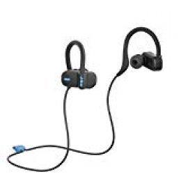 Jam Live Fast Auriculares Bluetooth, ip67 Resistente al Sudor, 3 Arcos de tamaños incluidos, 12 Horas de duración de la batería, Manos Libres, Negro.