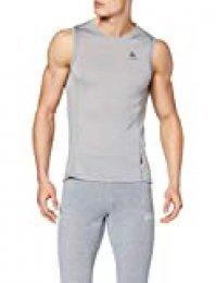 Odlo - Chaleco para Hombre, Hombre, Camiseta, 110652_15700_S, Gris, Small