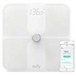 Eufy BodySense Bascula Bluetooth 4.0, bascula baño Grasa Corporal, con Pantalla LED Grande, Peso/Grasa Corporal/BMI/Fitness Body (analisis Corporal)