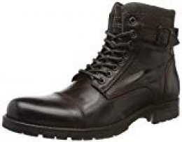 Jack & Jones Jfwalbany Leather Coffee Bean, Botas Estilo Motero para Hombre