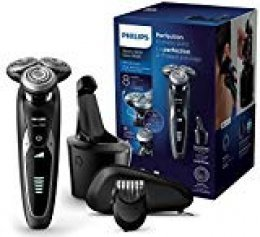 Philips Serie 9000 S9531/31 - Máquina de afeitar con cabezales de 8 direcciones, seco/húmedo, 3 modos y sistema de limpieza SmartClean, perfilador de barba y funda de viaje, negro