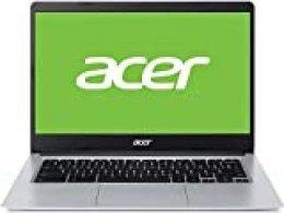 "Acer Chromebook 314 CB314-1H - Ordenador Portátil de 14"" Full HD con Procesador Intel Celeron N4020, RAM de 4GB, eMMc de 64GB, Intel UHD Graphics, Chrome OS, Color Plata - Teclado Qwerty Español"
