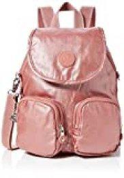 Kipling Firefly Up, Mochilas para Mujer, Rojo (Metallic Rust), 22x31x14 cm