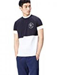 Marca Amazon - find. Camiseta Bicolor para Hombre