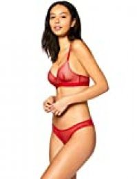 Marca Amazon - Iris & Lilly Bralette de Rejilla Mujer, Rojo (Scooter), XS, Label: XS