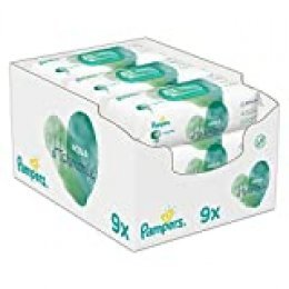 Pampers 81690414 toallita húmeda para bebé 48 pieza(s) - Toallitas húmedas para bebé (Wet baby wipe, Girl/Boy, Turquesa, Blanco, Tela, Polypropylene Regenerated Cellulose Water Citric Acid PEG-40 Hydrogenated Castor Oil Sodium...,