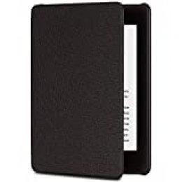 Funda Amazon de cuero para Kindle Paperwhite (10.ª generación - modelo de 2018), Negro