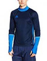 adidas Con16 TRG Camiseta, Hombre, Maruni/Azul, 2XL