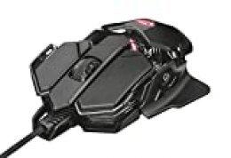 Trust GXT 138 X-Ray - Ratón Gaming Iluminado RGB con 10 Botones programables, Negro
