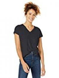 Goodthreads Vintage Cotton Pocket V-Neck T-Shirt Fashion-t-Shirts, Negro, US M (EU M - L)