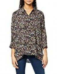 Mavi Long Sleeve Shirt Blusa, Multicolor (Black Pastel Flower Printed 900), Medium (Talla del Fabricante: M/) para Mujer