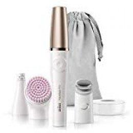 Braun FaceSpa Pro 912 - Sistema 3 en 1 con Depiladora Facial, Cepillo Facial y Cabezal Tonificador, Blanco