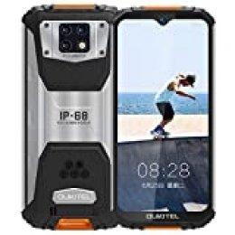 OUKITEL WP6 IP68 Móvil Libre Resistente,6.3'' FHD+ (Gorilla Glass),10000mAh Batería Telefonos Robusto,48MP+16MP Triple Cámara Rugged Móvil,6GB+128GB Helio P70 Dual 4G Impermeable Smartphone(Naranja)