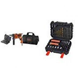 Black+Decker KR714S32-QS Taladro percutor 710 W + BLACK+DECKER A7188 - Set de 50 piezas con brocas y puntas para atornillar y taladrar