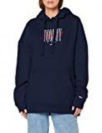 Tommy Jeans Mujer Modern Logo Hoodie chaqueta punto   Azul (Black Iris 002) Large