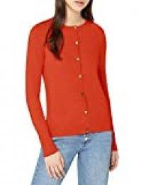 Marca Amazon - find. Chaquetacon Cuello Redondo Mujer, Rojo (Red), 42, Label: L