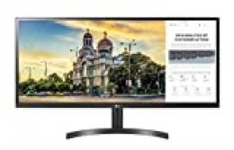 LG 34WL50S-B 86, 36 cm (34 Pulgadas) 21: 9 Ultrawide Full HD IPS Monitor (AMD Radeon FreeSync, HDR 10, la Moda, Maxxaudio, función multitarea), Color Negro