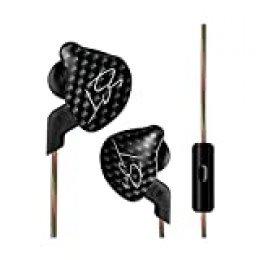 KZ ZST Auriculares de botón con controlador dual, híbridos y dinámicos