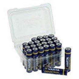 Varta Industrial batería AAA Micro Pilas alcalinas LR03-Fabricado en Alemania, Caja de 24