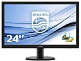 """Philips 243V5LHSB/00 - Monitor de 24"""" (Full HD 1920 x 1080 pixels, VESA, 1 ms, VGA, Conexión HDMI, sin altavoces )"""