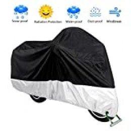 VISLONE Funda para Moto Cubierta Impermeable a Prueba de Polvo Anti-UV Protector Solar Protección al Calor Anti-arañazos (XL)