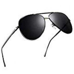 NWOUIIAY Gafas de Sol para Aviador Mujer Hombre de Marco de Cuproníque Liviano pero Duradero Lentes TAC Polarizadas 100% UV40