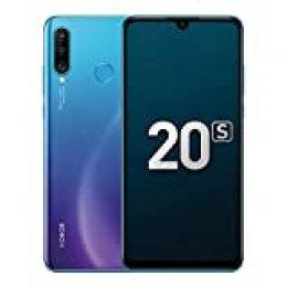 """Nuevos teléfonos móviles Honor 20S de 6GB y 128GB, Pantalla FullView de 6.15"""", cámara Triple súper Ancha 48MP + 8MP + 2MP, iluminación de Retrato en 3D, chipset CPU Kirin 710 (Azul Pavo Real)"""